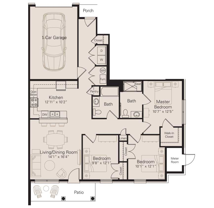 Barrier free bathroom floor plans for Barrier free house plans
